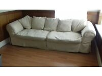 3str/4str Loose cover Settee very comfortable..x