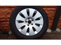 """SPARE GENUINE AUDI ALLOY WHEEL 16"""" A6 C6 4F0601025N TYRE 205 60 16 CONTINENTAL"""