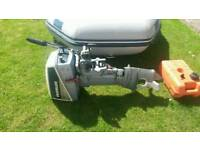 9 foot inflatable with 8hp evinrude outboard