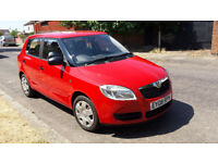 SKODA FABIA 1.2 HTP 60 08 PLATE RED MARCH 2019 MOT 1 FORMER KEEPER IMMACULATE DRIVES PERFECT £1195