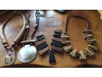 Wooden HANDMADE jewellery set