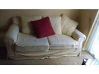 Three seater sofa plus two armchairs (free)