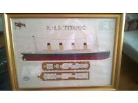 RMS Titanic Ships Plans Framed Print
