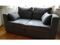 Blue Suede Sofa Bed (Must be collected by Wednesday 31st August)