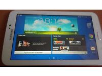 """Samsung Galaxy Tab 3 7"""", Used Good condition, Factory Reset, 8GB model, White, boxed."""