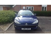 Peugeot 206 1.4 Petrol Manual (2003) - Perfect for a first time driver