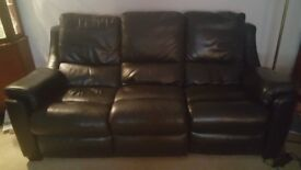 Three seater leather sofa for sale