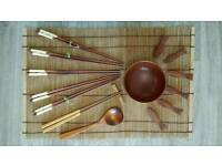 Rosewood rice set