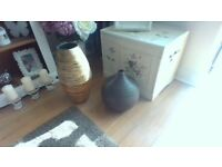 beautiful wooden vases