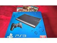 PS3 with three games and 2 controllers - all as new