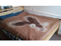 King Size Wooden Bed, (with or without matress), very good condition. Hip Hop wooden bed, bensons