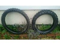Motor cross tyres
