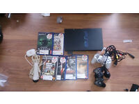 PlayStation 2 + usb mic + controller + games + power + video cable