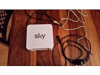SKY network router hub SR101 with power cable and network cable and filter