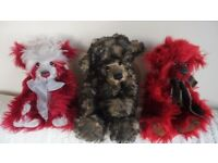 Charlie bears Mingle, Marlowe & Enzo all 100% Mohair all with Tags all retired