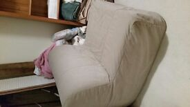 Chair bed for sale, single bed, beige cover, only used a couple of times, excellent cond. £70 ono
