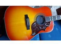 Epiphone Hummingbird Acoustic with hard case