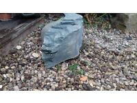 Very large and heavy diamond core drilled piece of welsh slate