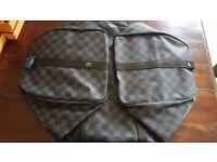 Men's Louis Vuitton Leather Graphite Keepall 55 Bag