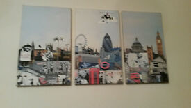 Set of three banksey pictures very interesting if you like london 30