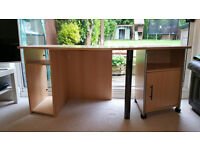 Large Office desk with storage (2 parts)