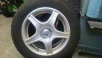 195/65 r15 studded arctic claw tires on core racing rims