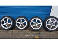 Team Dynamics Pro Race 2 alloy wheels 16 '' + 4 x tyres 195 45 16