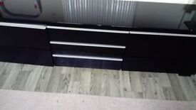 Black cupboard with draws