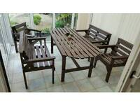 Garden/Conservatory Table with Benches