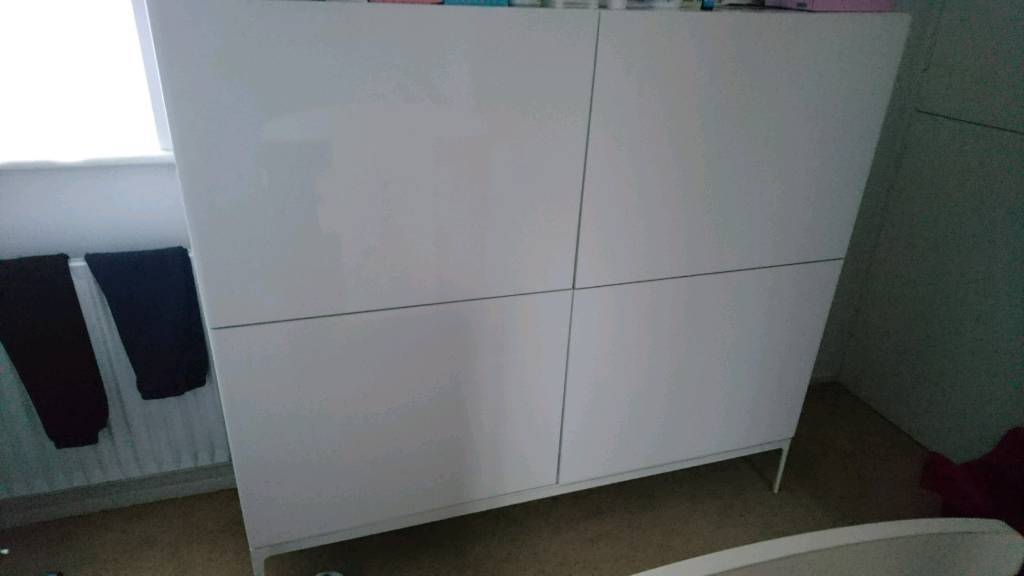 High gloss white wardrobe Ikea