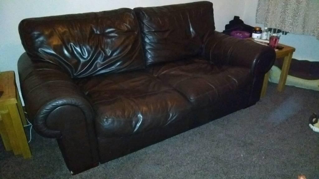 £50 Multiyork leather sofa