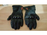 Leather motorcycle gloves, size XL