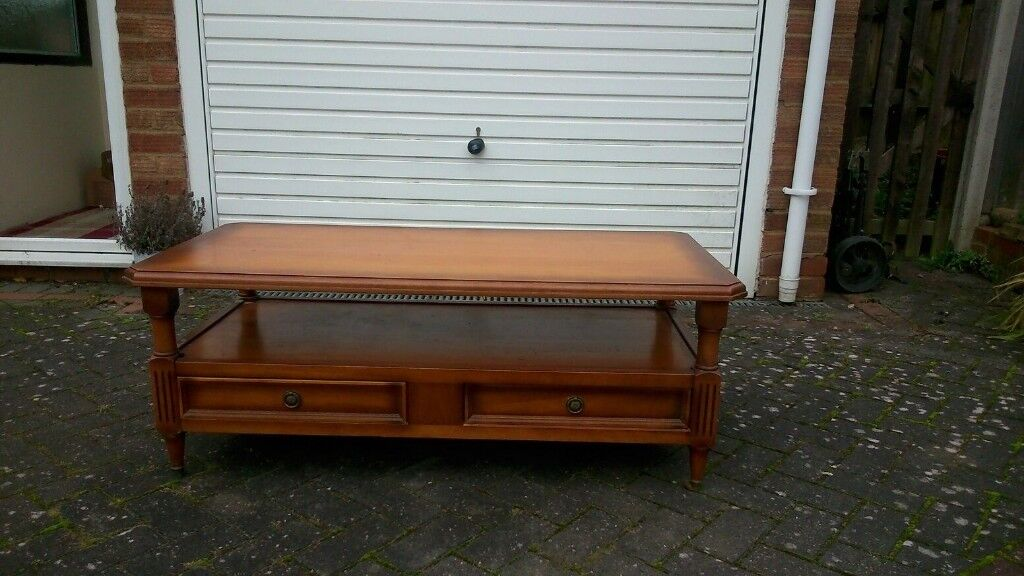 Beautiful Grange Cherry Wood polished coffee table.