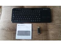 Logitech Wireless Touch Keyboard K400r/K10