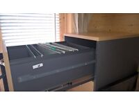Lockable Deluxe 4 drawer Filing Cabinet & Deluxe Office Contract Cupboard - £200 (matching set)
