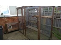 Animal run/bird cage enclosure