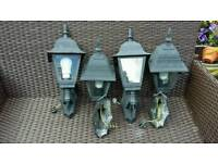 4 victorian style wall lamps full working order. .