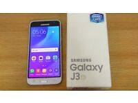 SAMSUNG J3 ANDROID MOBILE PHONE / 5INC SCREEN / 8MP CAMERA / 8MEMORY BUILT IN / CASH OR SWAPS
