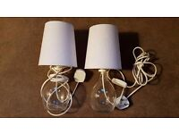 Set of Bedside table - Glass Lamps