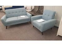 Monza 2 Seater Sofa & Armchair Blue Can Deliver