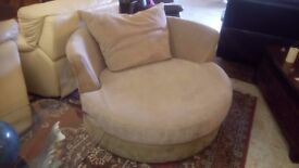 HUGE swivelling CUDDLE CHAIR in great condition! £135 CHEAP local DELIVERY Stalybridge SK15 2QF