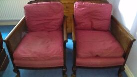 Pair of Begere cane armchairs ... c 1905 /1920