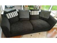 Black 4 seater sofa