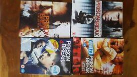 Prison Break series 1-4 on dvd
