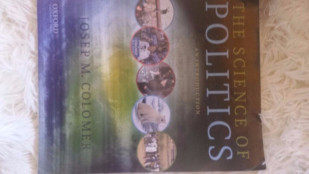 Joseph M. Colomer, The Science of Politics, An Introduction, 2011.