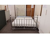 Julian Bowen Empress Chrome Double Bed (BED ONLY) Can Deliver