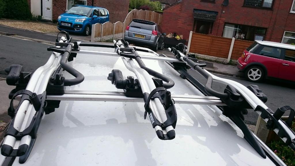 thule proride 591 3 bike roof rack in bamber bridge. Black Bedroom Furniture Sets. Home Design Ideas
