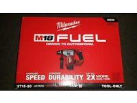 Milwaukee M18 FUEL 1-1/8 SDS Plus Rotary Hammer (Bare Tool) 2715-20 Latest model 2017 Brushless