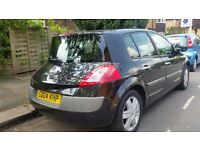 Renault Megane 1.6 5 doors black,mint condition, MOT till March 2017, all tyres changed recently.