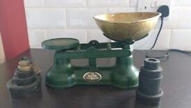 Retro cast iron Salter balance scales
